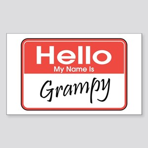 Hello, My Name is Grampy Rectangle Sticker