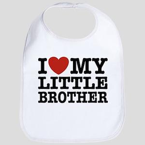 I Love My Little Brother Bib