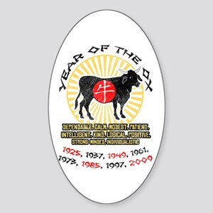 Year of Ox Qualities Oval Sticker