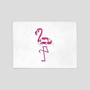 Flamingo Shirt Ready To Flamingle G 5'x7'Area Rug