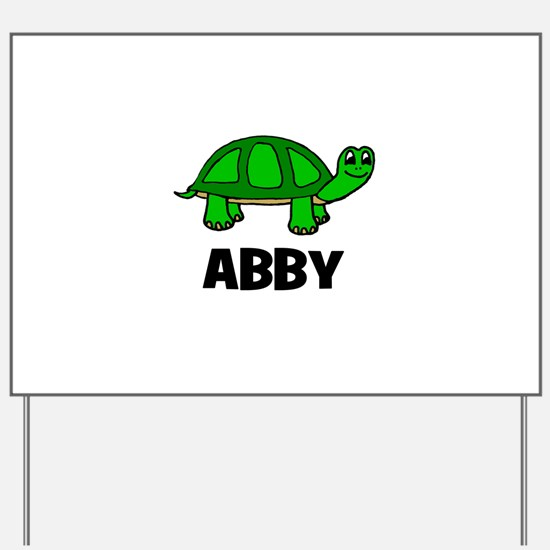 Abby - Customized Turtle Desi Yard Sign