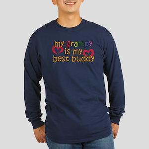 My Grampy is My Best Buddy Long Sleeve Dark T-Shir