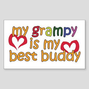 My Grampy is My Best Buddy Rectangle Sticker