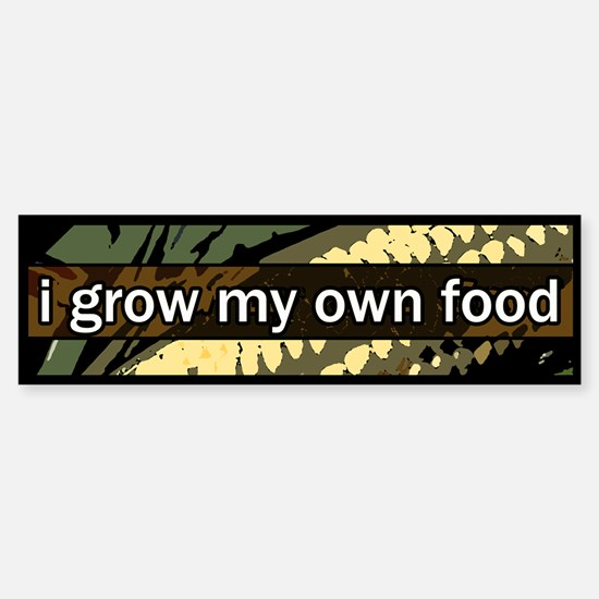 grow local Bumper Bumper Bumper Sticker