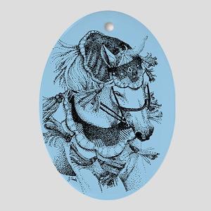 Arabian Horse Oval Ornament