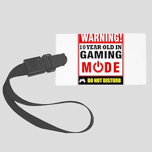 10 Year Old Gaming Mode Gamer Vi Large Luggage Tag