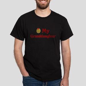 Olive (I Love) My Granddaughter Dark T-Shirt