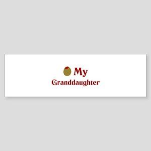 Olive (I Love) My Granddaughter Bumper Sticker