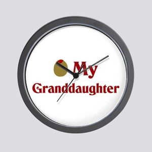Olive (I Love) My Granddaughter Wall Clock