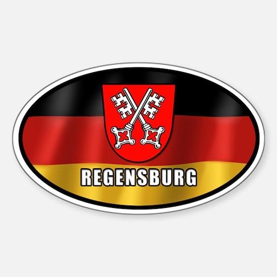 Regensburg coat of arms (white letters)