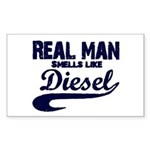 Real man Rectangle Sticker 10 pk)