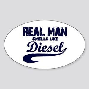 Real man Oval Sticker
