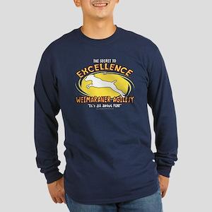 Secret Weimaraner Agility Long Sleeve Dark T-Shirt