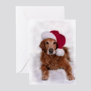 Chirstmas Golden Retreiver Greeting Cards (Pk of 2