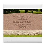 Death of a Nation Tile Coaster