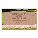 Death of a Nation Rectangle Sticker 50 pk)