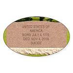 Death of a Nation Oval Sticker (10 pk)
