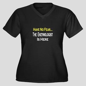 """""""No Fear...Enzymologist"""" Women's Plus Size V-Neck"""