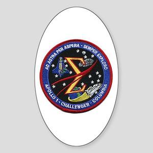 Space Flight Memorial Sticker (Oval)