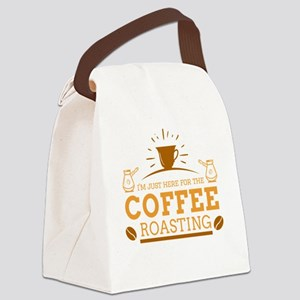 I'm just here for the coffee Canvas Lunch Bag