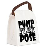 Bodybuilding Pump Flex Pose Canvas Lunch Bag