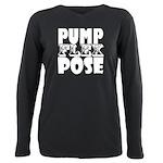 Bodybuilding Pump Flex P Plus Size Long Sleeve Tee
