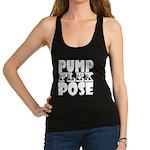 Bodybuilding Pump Flex Pose Racerback Tank Top