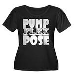 Bodybuil Women's Plus Size Scoop Neck Dark T-Shirt