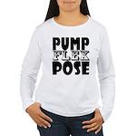 Bodybuilding Pump Flex Women's Long Sleeve T-Shirt