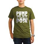 Bodybuilding Pump Fle Organic Men's T-Shirt (dark)