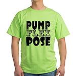 Bodybuilding Pump Flex Pose Green T-Shirt