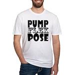 Bodybuilding Pump Flex Pose Fitted T-Shirt