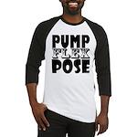 Bodybuilding Pump Flex Pose Baseball Tee