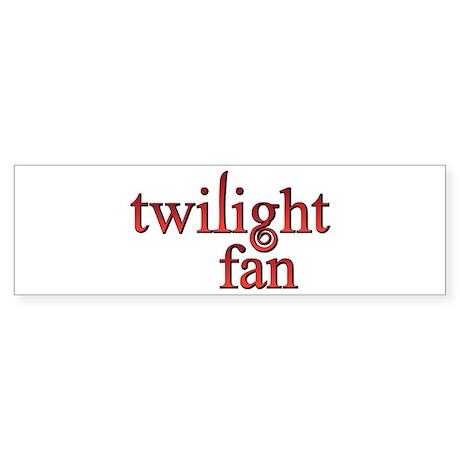 Twilight Fan Red Bumper Sticker (10 pk)