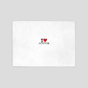 I Love Acappella 5'x7'Area Rug