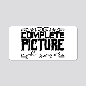 Complete picture Aluminum License Plate