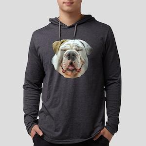 English Bulldog Stare Mens Hooded Shirt