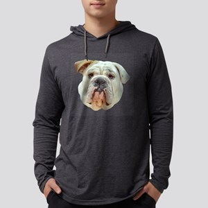 Curious English Bulldog Mens Hooded Shirt
