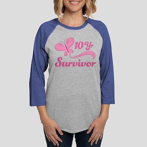 10 Year Survivor Breast Cancer Long Sleeve T-Shirt