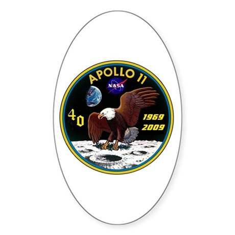 Apollo 11 40th Anniversary Oval Sticker