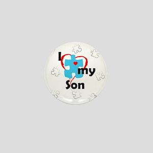 I Love My Son - Autism Mini Button