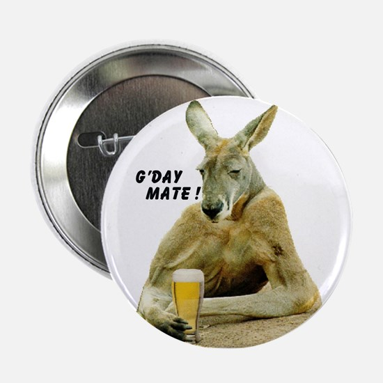 "Cute Kangaroo 2.25"" Button"