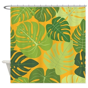 Monstera Shower Curtains