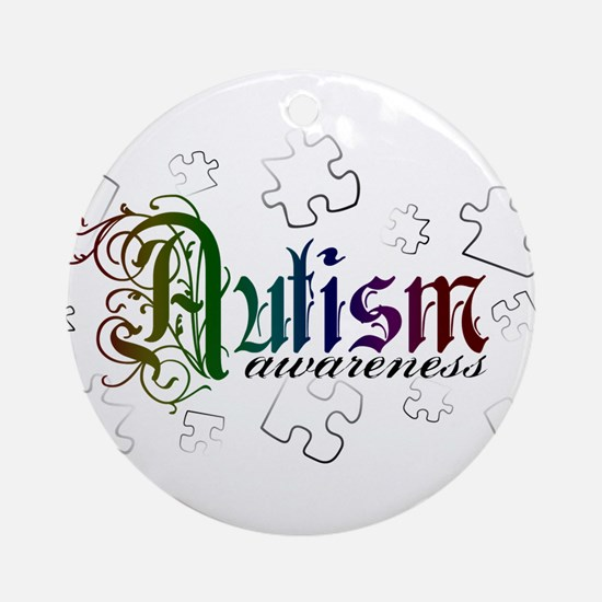 Autism Awareness - Medievel Ornament (Round)