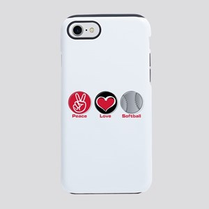 Peace Love Softball Red Iphone 8/7 Tough Case