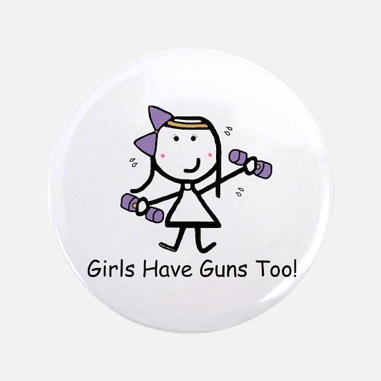 "Exercise - Girls Guns 3.5"" Button"