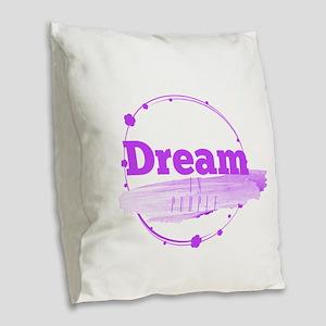 Dream In Purple Burlap Throw Pillow