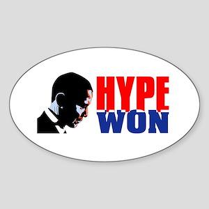 Hype won! Oval Sticker