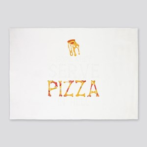 Pizza In Hell 5'x7'Area Rug