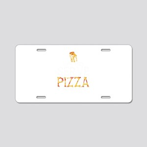Pizza In Hell Aluminum License Plate